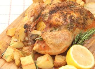 fırında biberiyeli tavuk