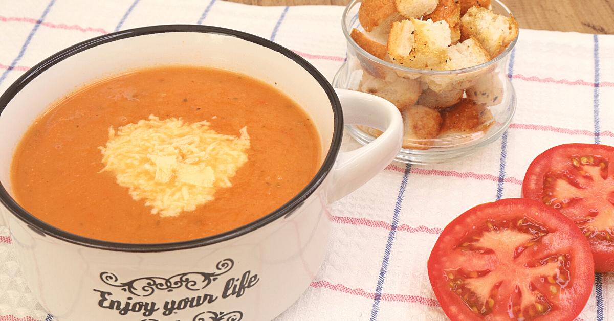 közlenmiş kremalı domates çorbası