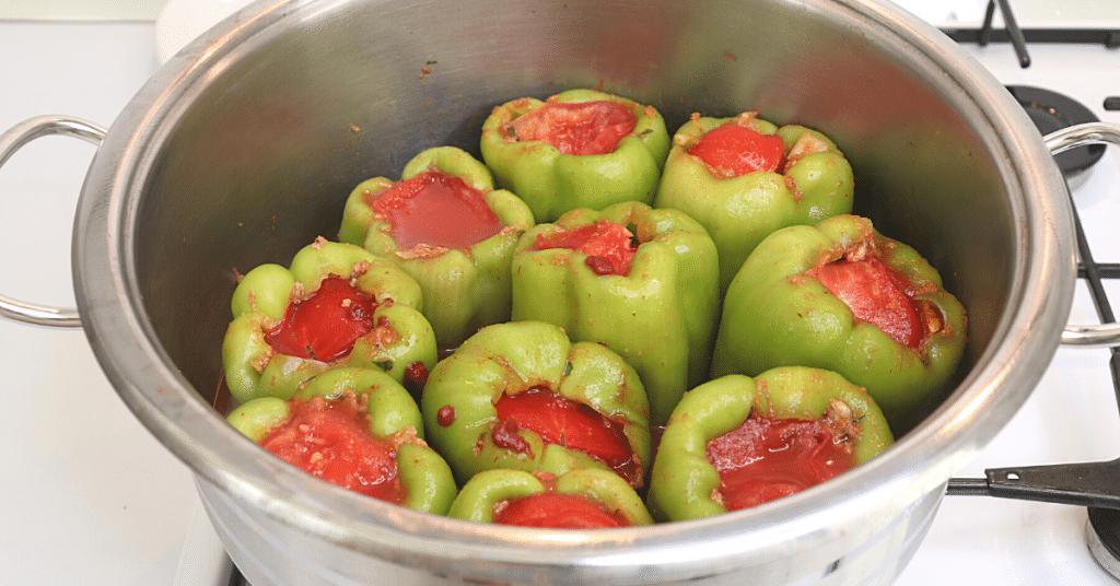 biber dolması domates kapakları