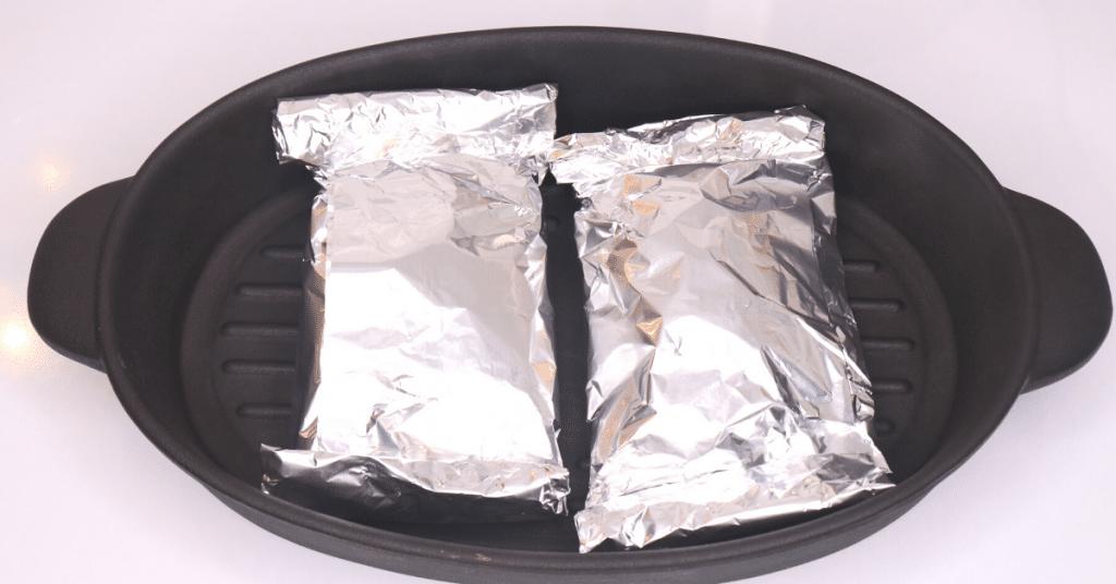 tavuk göğsü alüminyum kağıt