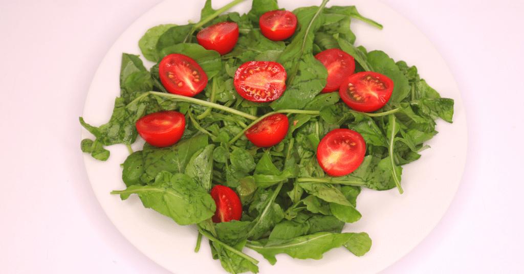 mozarella roka salatası çeri domates