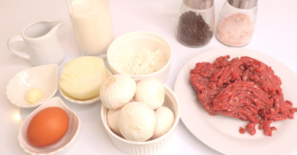 kremalı mantar köfte malzemeleri