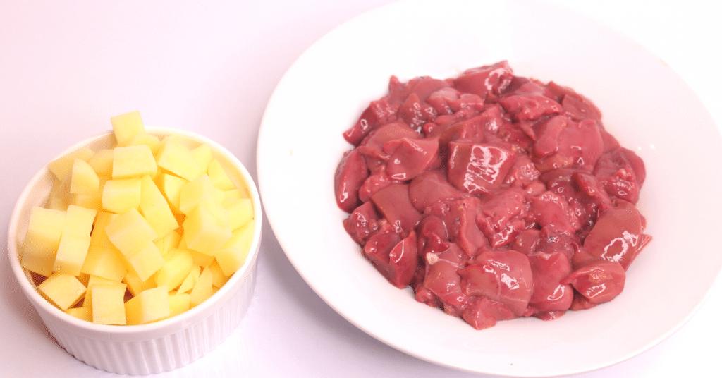 patatesli tavuk ciğeri