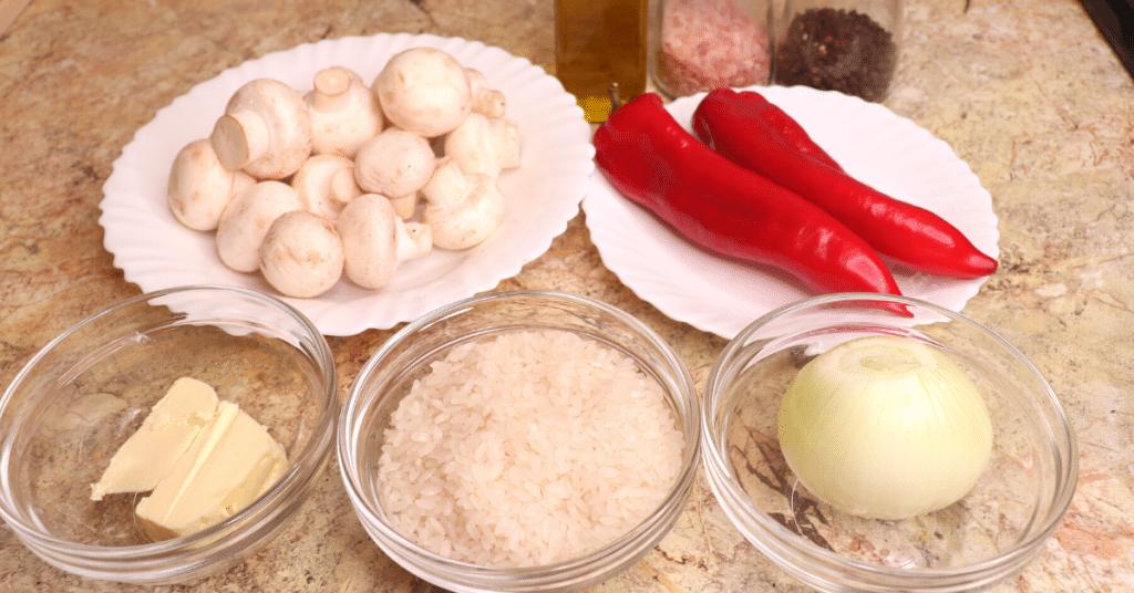 mantarlı pilav malzemeleri