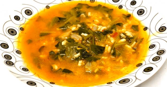 ıspanaklı pirinç çorbası