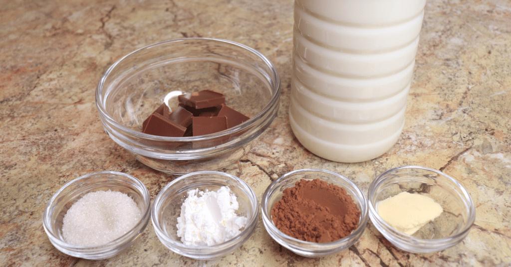 sıcak çikolata malzemeleri