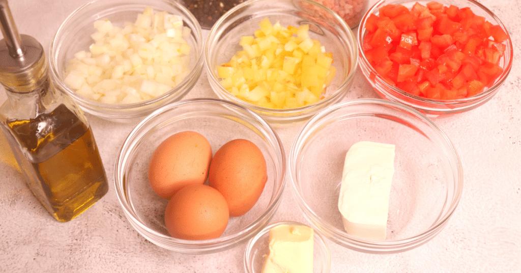 soğanlı peynirli menemen malzemeleri
