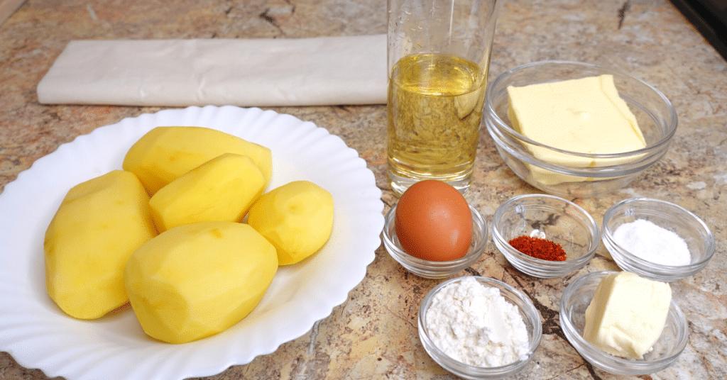 baklava yufkasından patatesli börek malzemeleri