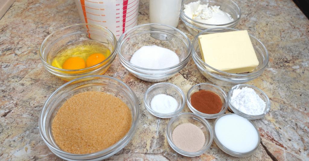tarçınlı rulo malzemeleri